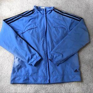 adidas Jackets & Coats - Adidas Blue Zip Up Jacket Size L